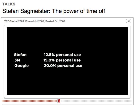 Sabbaticalmodel von Stefan Sagmeister