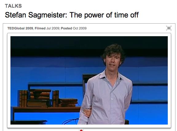 Stefan Sagmeister erklärt sein Sabbatical-Modell