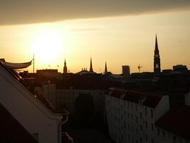 Blick von unserem Balkon in Hamburg