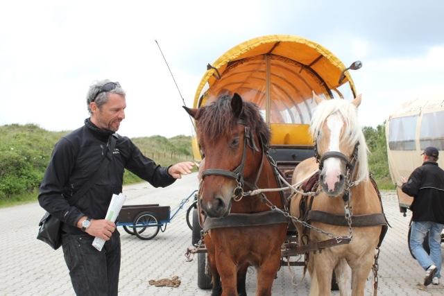 unser Transport zum Flughafen – die Pferdekutsche