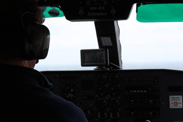Flug aufs Festland