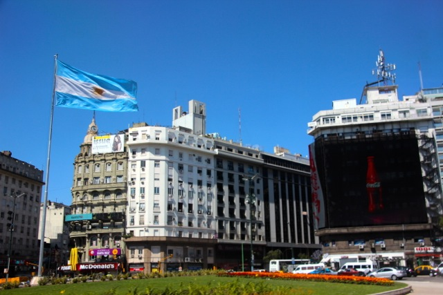 die Innenstadt von Buenos Aires