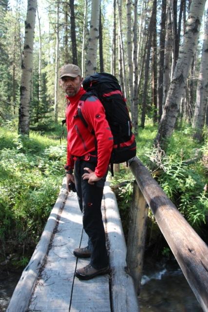 Dirk auf dem Weg zur Fryatt Hut