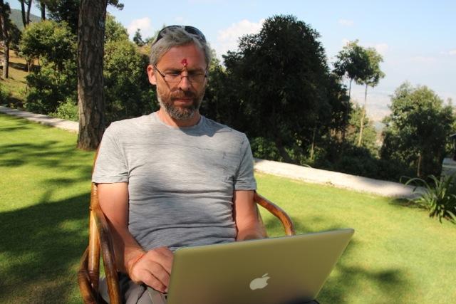 Heavy Blogging im Haatiban in Kathmandu
