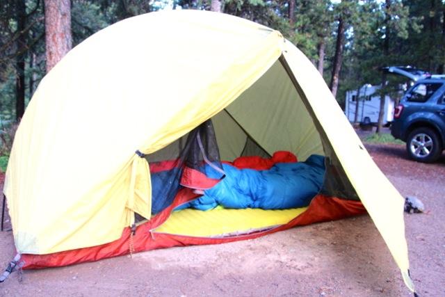 unser kleines, leichtes Zelt in Kanada