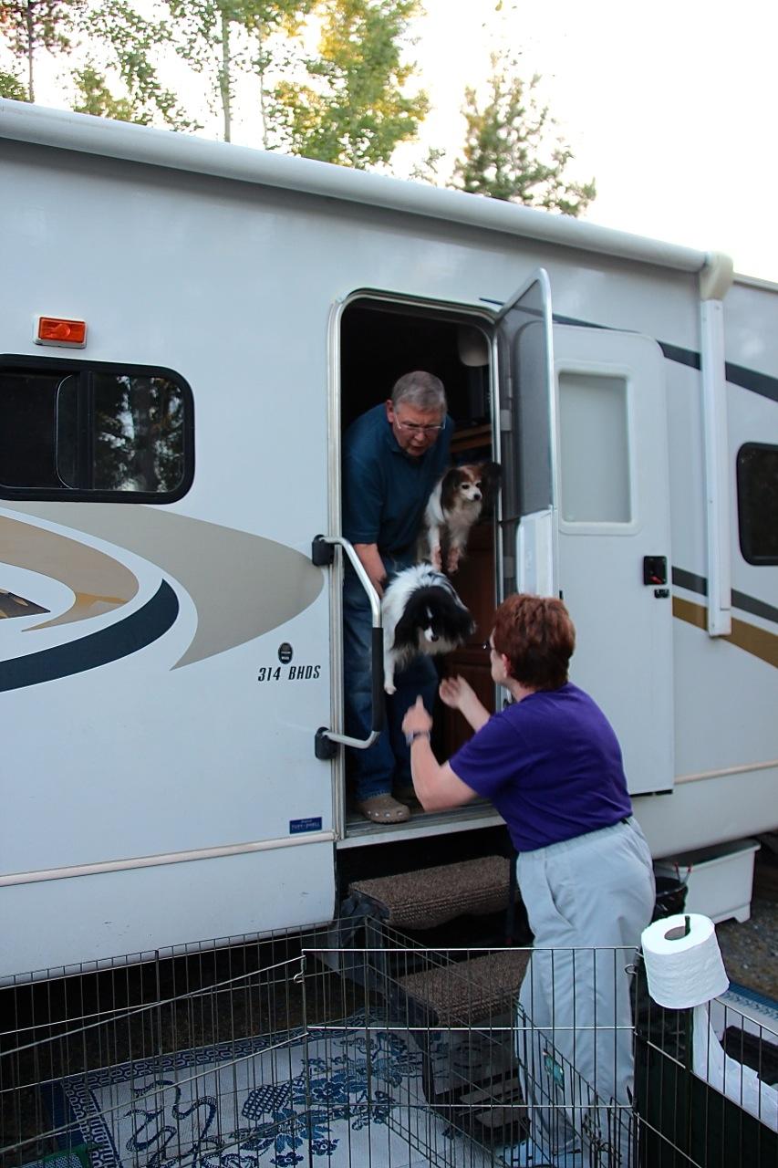 da kam der erste Hund aus dem Wohnwagen