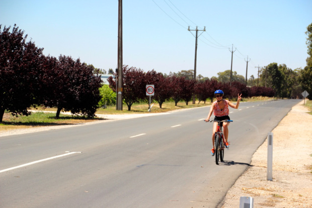 Rad fahren im Barossa Valley ist eine Qual...für Susanne