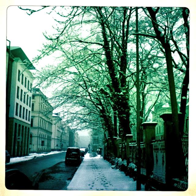 kalt war es in Leipzig