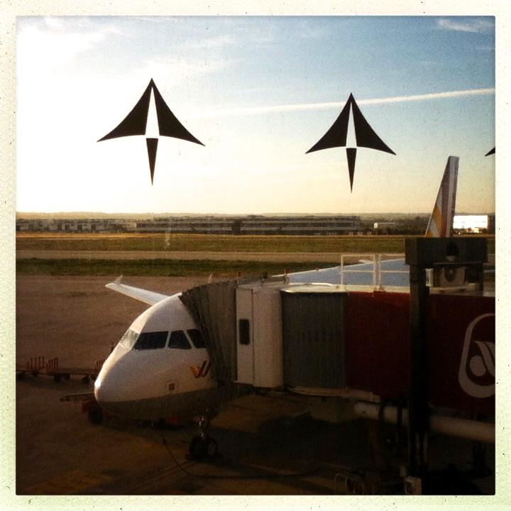 Abschied am Flughafen