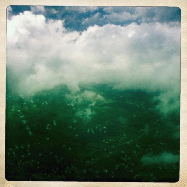 im Landeanflug auf Mallorca – die Wolken lüften sich