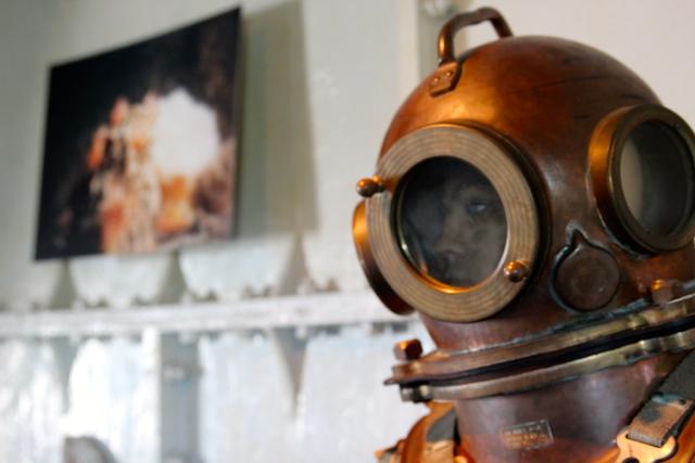 Ausstellung im Leuchtturm: der unheimliche Taucher