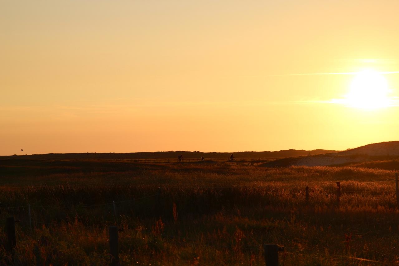Sonnenuntergang auf dem Weg zum Zeltplatz