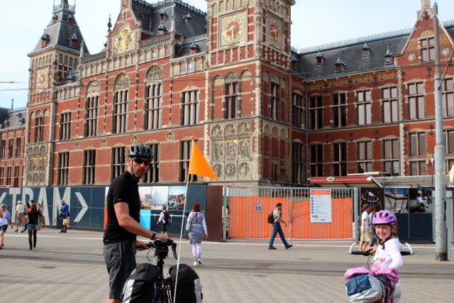 Ankunft in Amsterdam