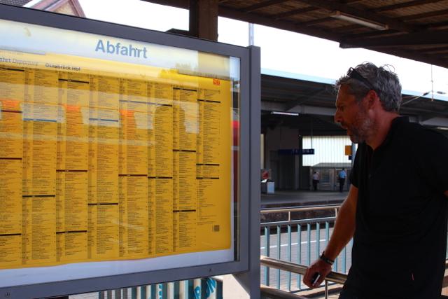 Umsteigen und ab nach Hamburg