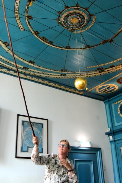 in Franeker besuchen wir das Privat-Planetarium von Eisinger