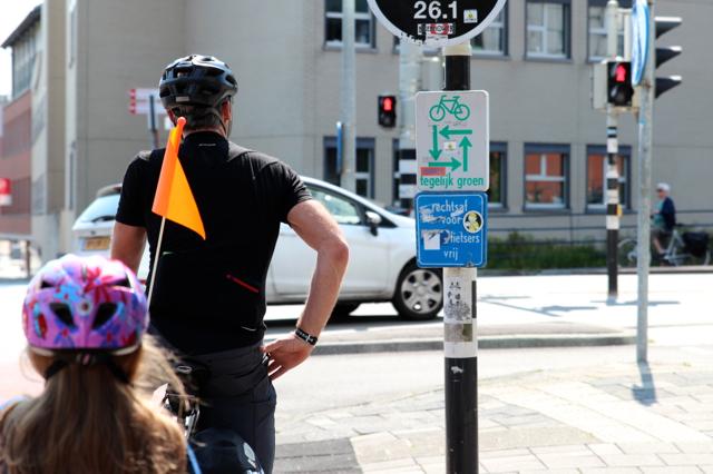 der Rad-Verkehr wird einfach geregelt