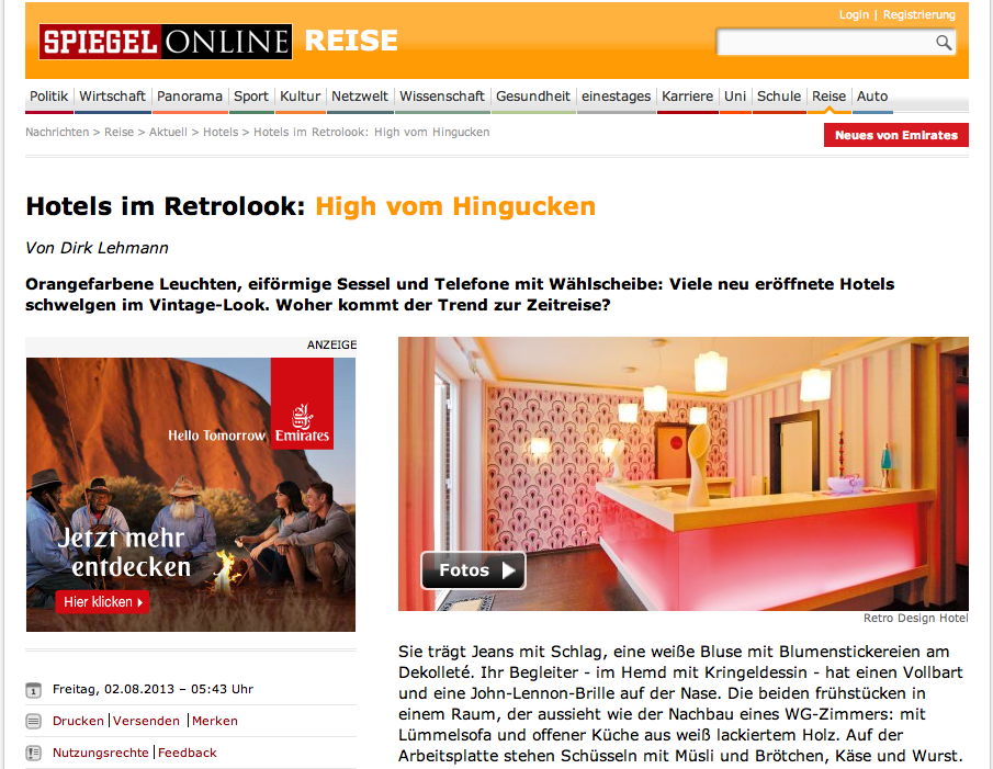 Spiegel Online: Dirks Kolumne