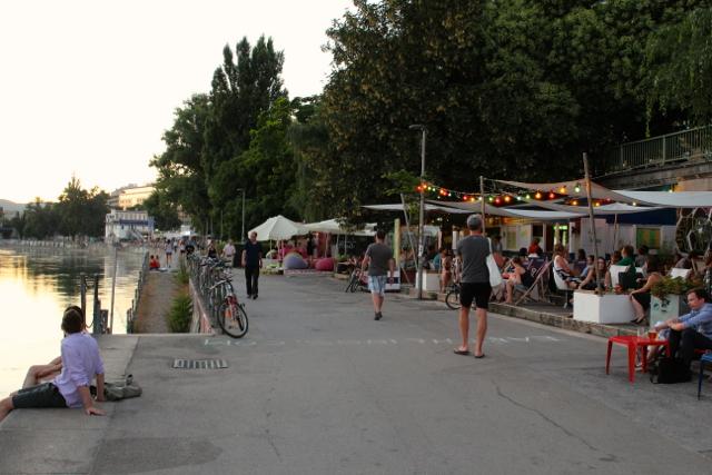 Abendstimmung am Donaukanal
