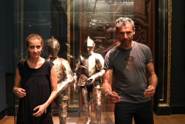 Dirk und Susanne posieren im Kunsthistorischen Museum