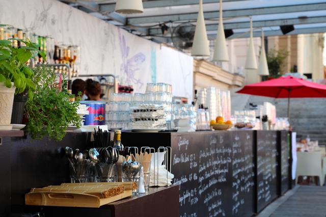 das Café Leopold im Museumsquartier