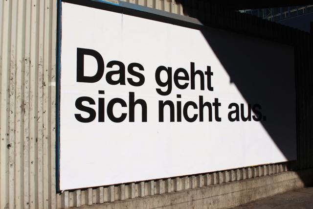 Schild in Wien