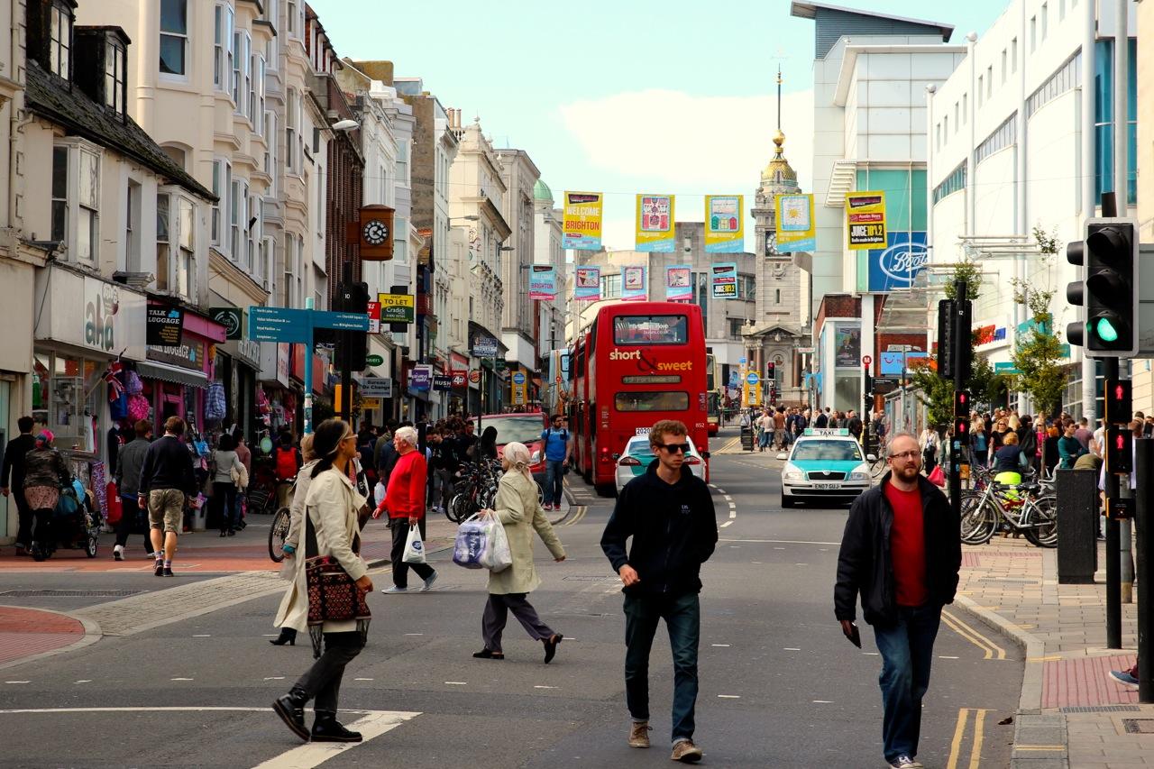 Strassenszene in Brighton