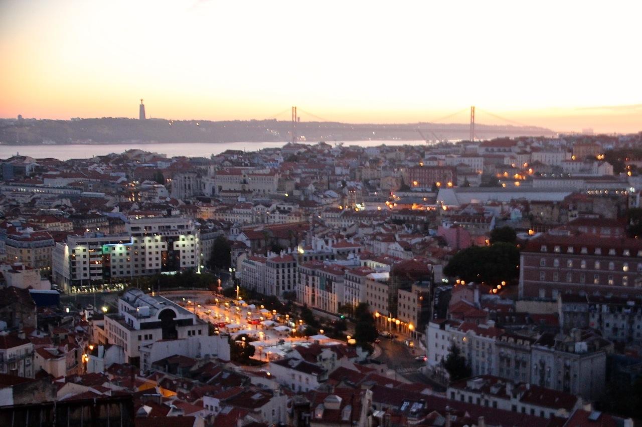Abendstimmung in Lissabon