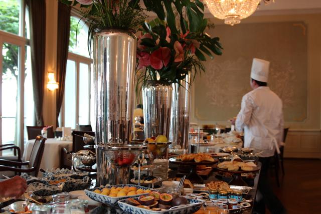 das Frühstücks-Buffet