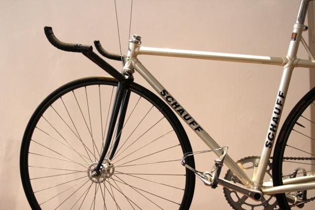 Dirk ist begeistert: ein Schauff-Rennrad
