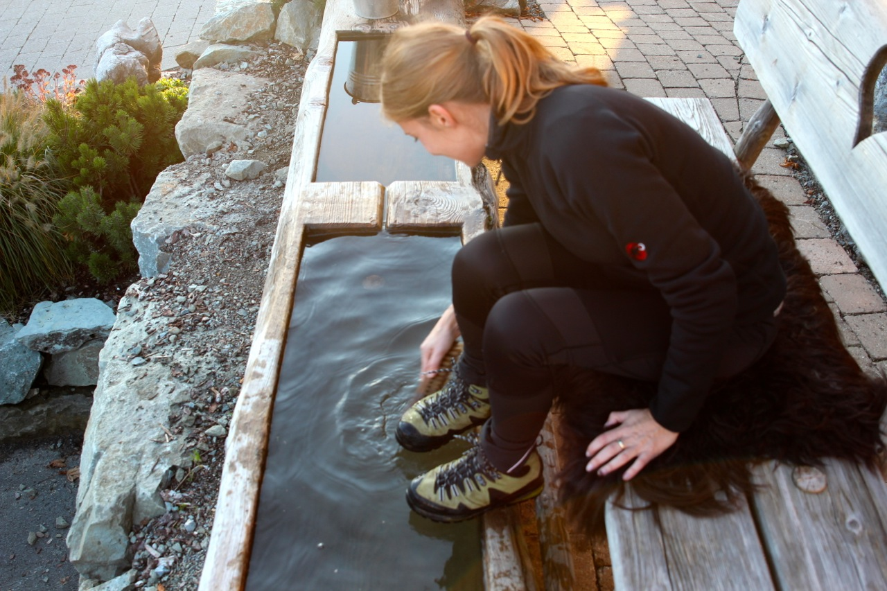 Schuheputzen nach der Wanderung