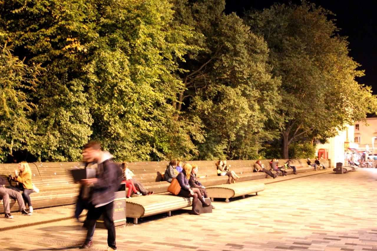 der Public Garden bei nacht