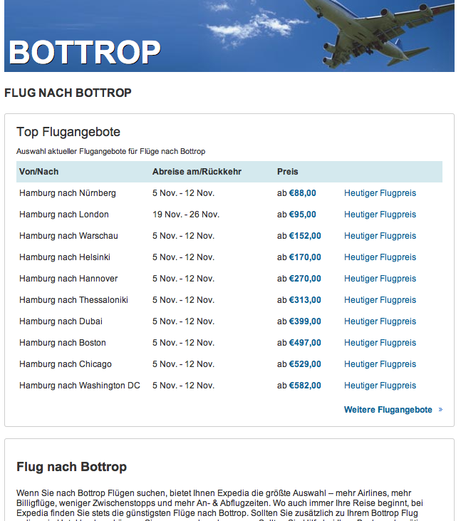 Flug nach Bottrop