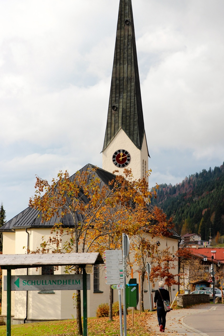 Kirchturmuhr in Balderschwang