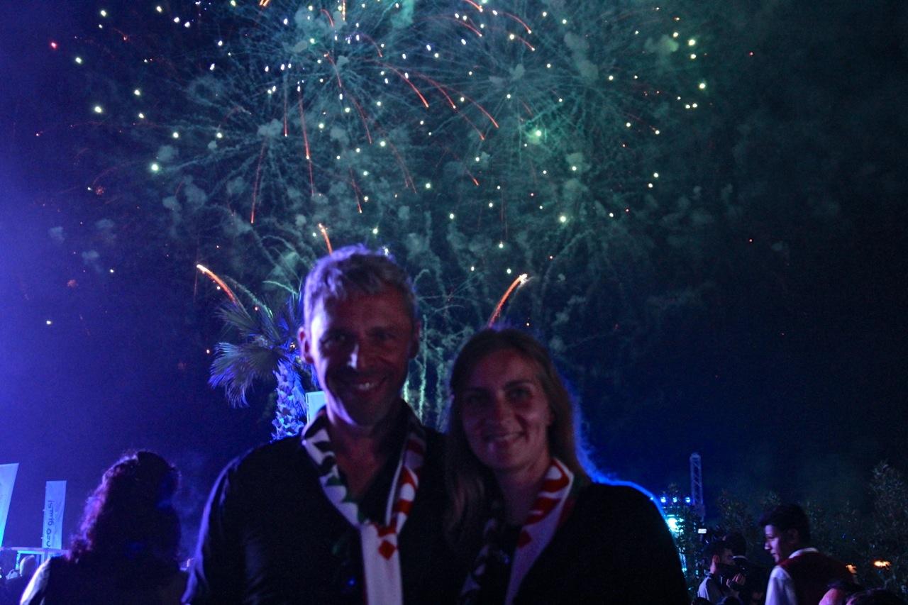 auch wir lassen und mit Feuerwerk fotografieren