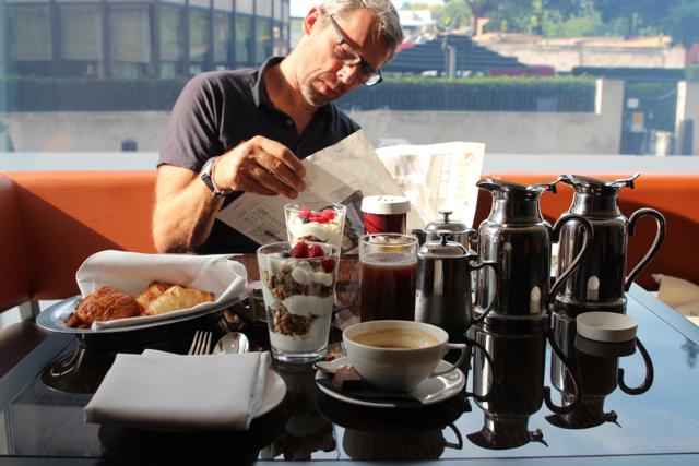 Dirk beim Frühstück