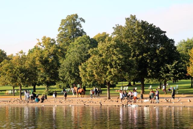 St James Park und Enten-Fütterer