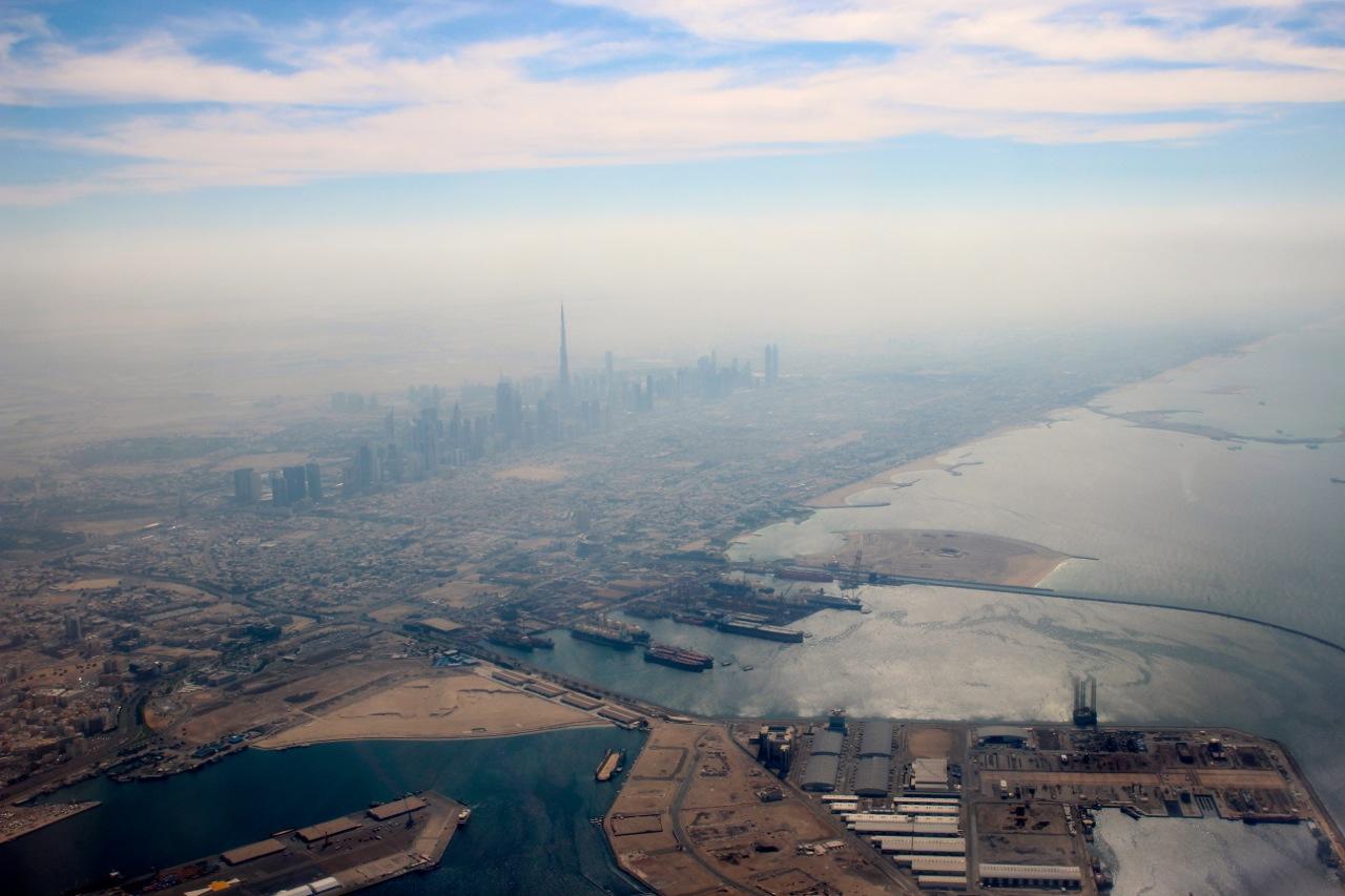Smog über Dubai