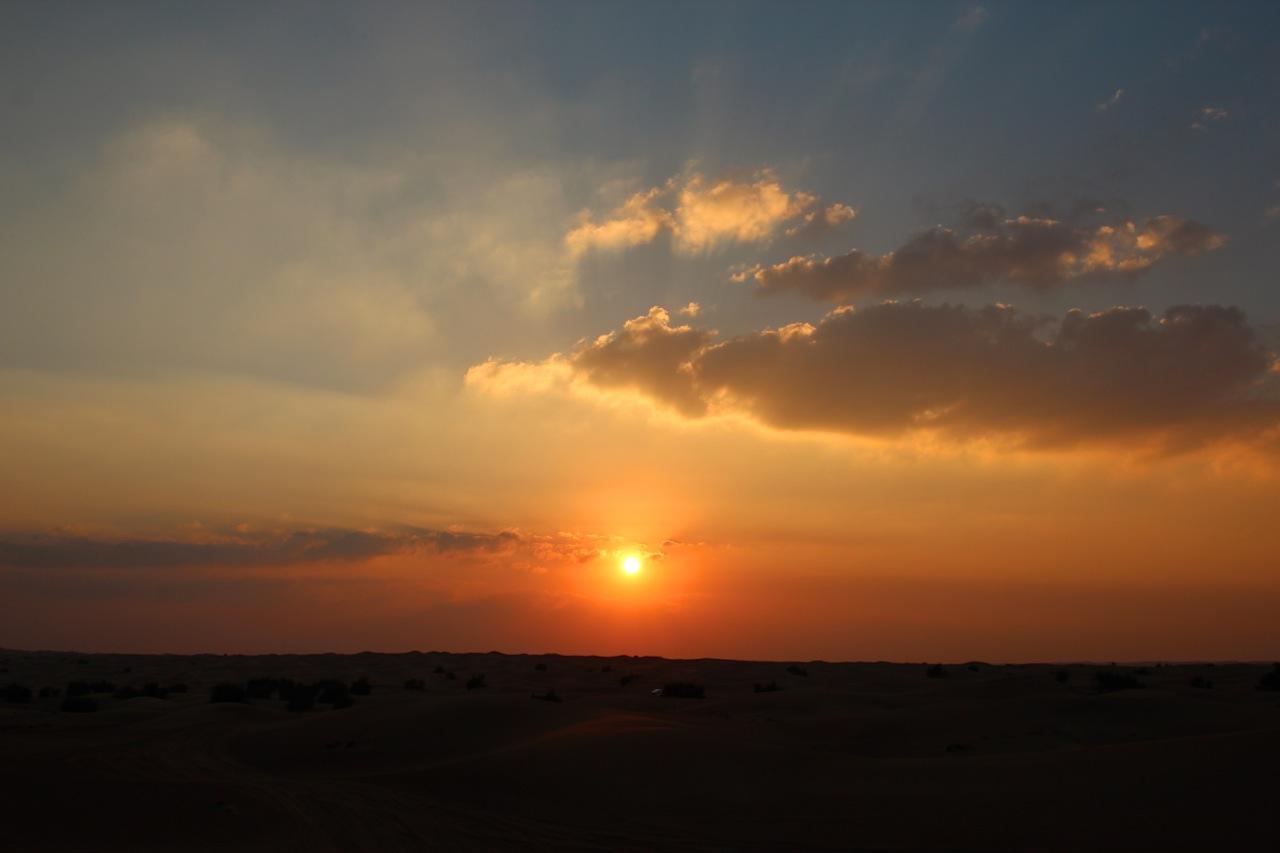 Sonnenuntergang über der Wüste