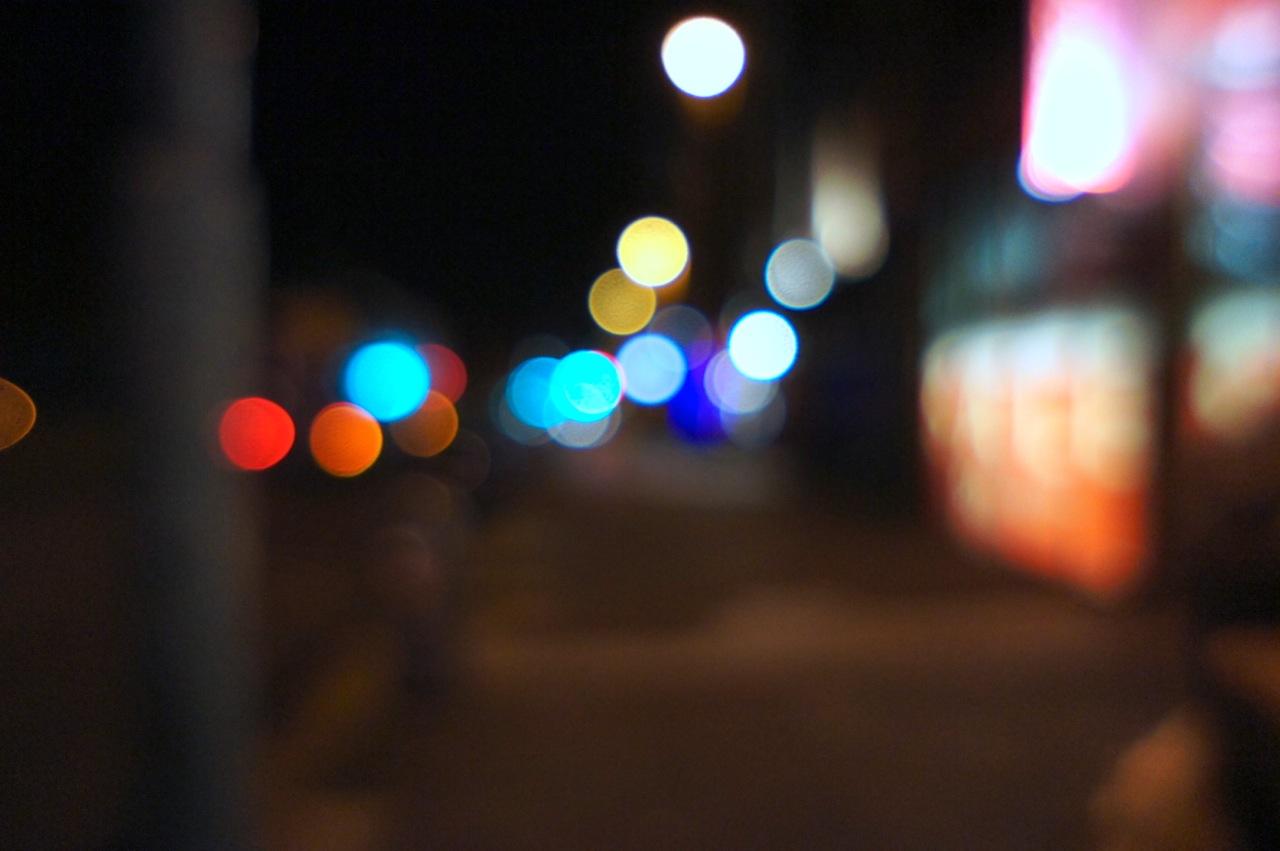 glitzernde Strassenlichter