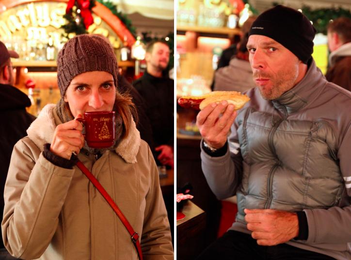 Susanne und Dirk mit unterschiedlichen Ansprüchen auf dem Weihnachtsmarkt