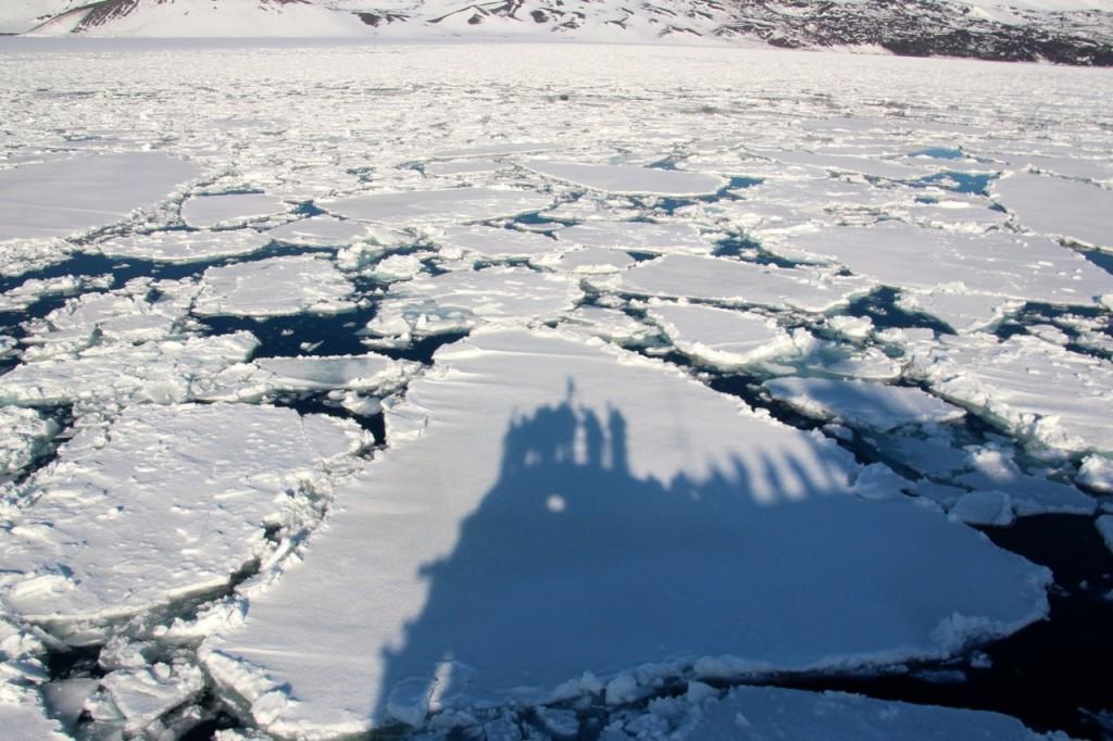unsere Schatten auf dem Eis