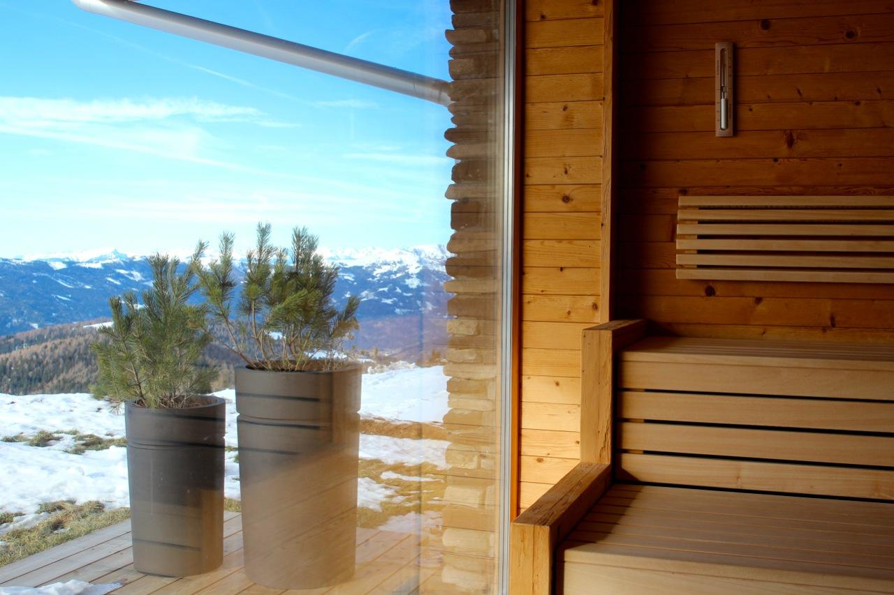 Sauna mit Ausblick
