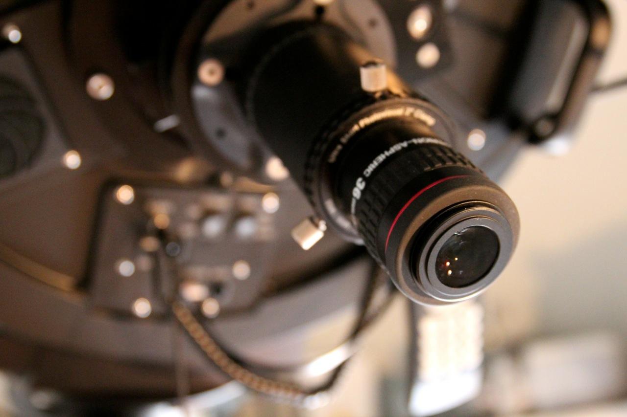 das Okular der Sternwarte