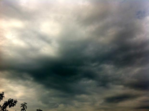 Regen über Hamburg