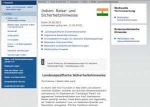 Reisehinweis Indien