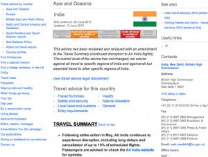 Reisehinweise Britisches Außenministerium
