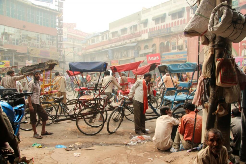 Indien, Delhi, Strassenszene, Fahrräder, www.pushandreset.com