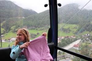 Benita in der Geislachkogelbahn