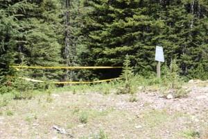 Absperrung wegen Bärenwarnung