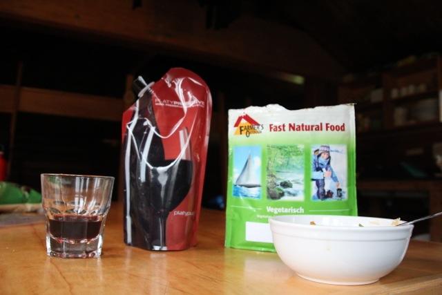 Trekking-Mahlzeit in der Fryatt Hut